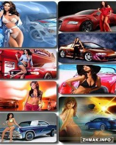 Girls and Cars Wallpaper 1