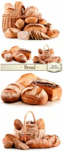 Bread basket with flour products - stock photos